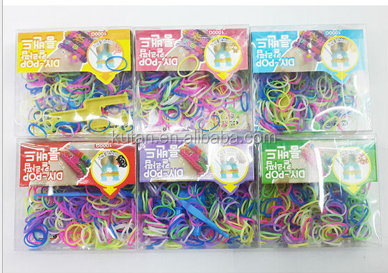 Supply rainbow rubber loom for bracelt /crazy loom rubber bands wholesale