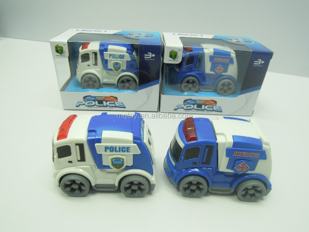 Mini Police Car Set Simulation Military Inertial Car Kids Toy