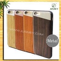 2017 novel style luxury wooden phone case exquisite original handmade metal phone case for iphone6