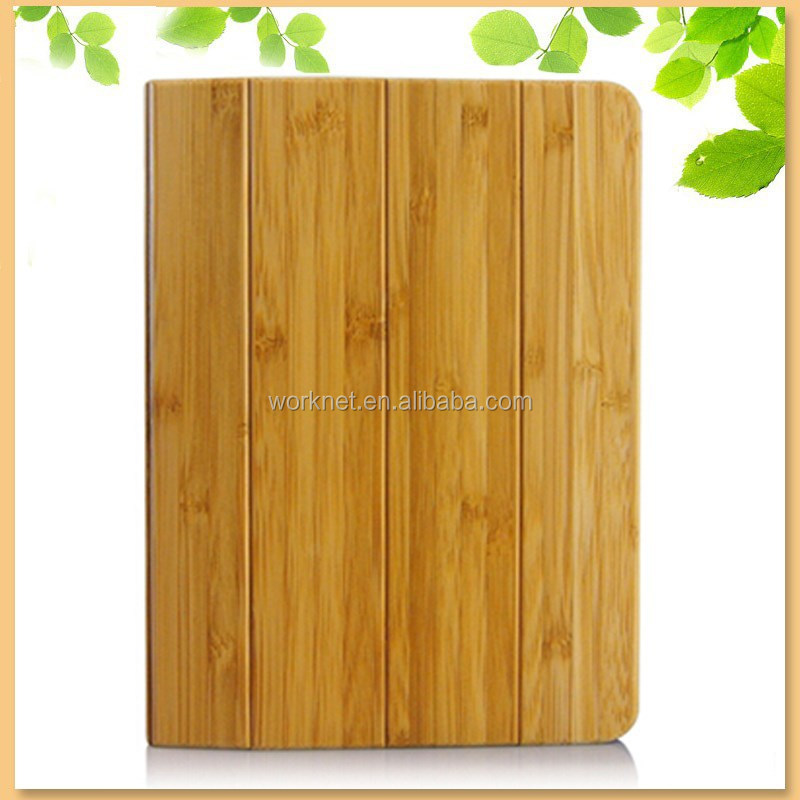 custom design handwork natural wooden bamboo smart case for ipad mini 3