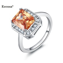 ECCOSA Fashion New Design crystal jewelry Rings Jewelry for Girl or Woman