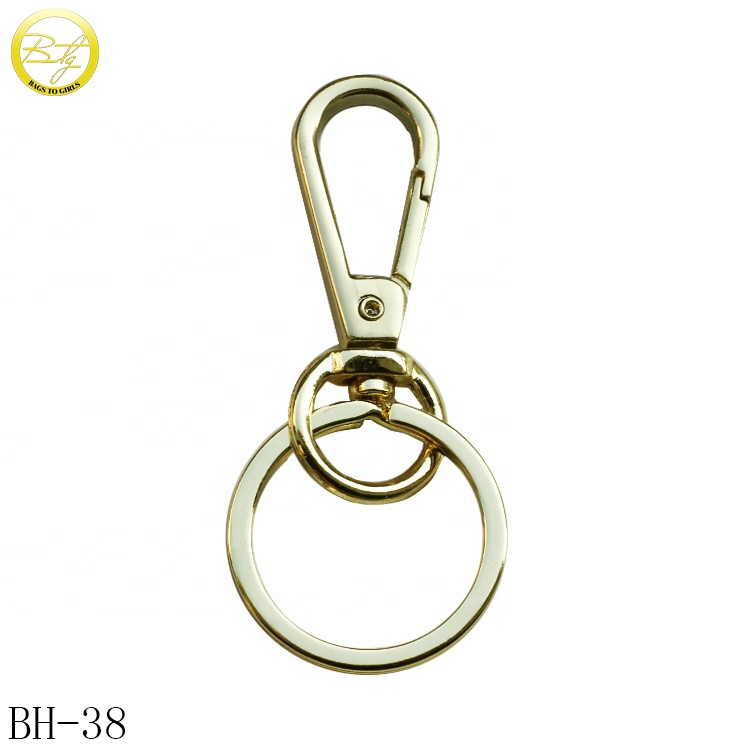 Wholesale Metal Gold Spring Clip Snap Dog <strong>Hook</strong> for Key chain/handbag
