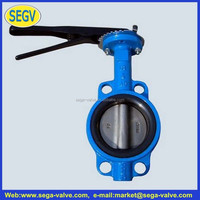 Flange type rubber seated butterfly valve(short body type)