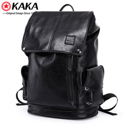 2018 kaka high quality water resistant mochila pu leather backpack mens waterproof bag backpack
