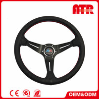 Car interior accessories 350mm leather off road steering wheel