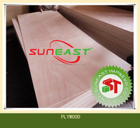 red hardwood face plywood with MLH core,timber board for construction
