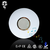 24W Surface mounted bluetooth speaker Music led ceiling light fixtures design china