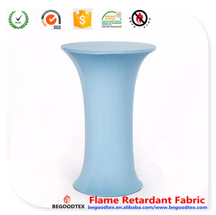 china suppliers table cover ifr 92 polyester 8 spandex fabric