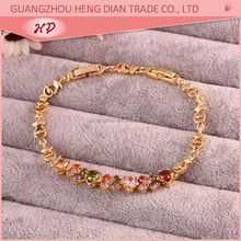 Wholesale manufacturer china New fashion design bracelet thai charms 18K gold plated bracelets for gril jewelry