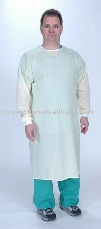 Non-woven surgical isolation gown