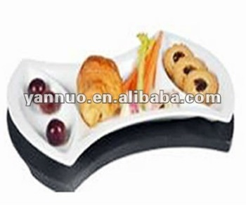 snack plate set with tray ,Ceramic snack plate ,Ceramic snack plate