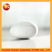Natural snow white pure pebble stone