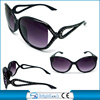 2014 New style black big frame plastic sunglasses temple with rhinestone decorate(BSP1049)