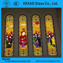 Customized tempered stained glass catheral church windows panels