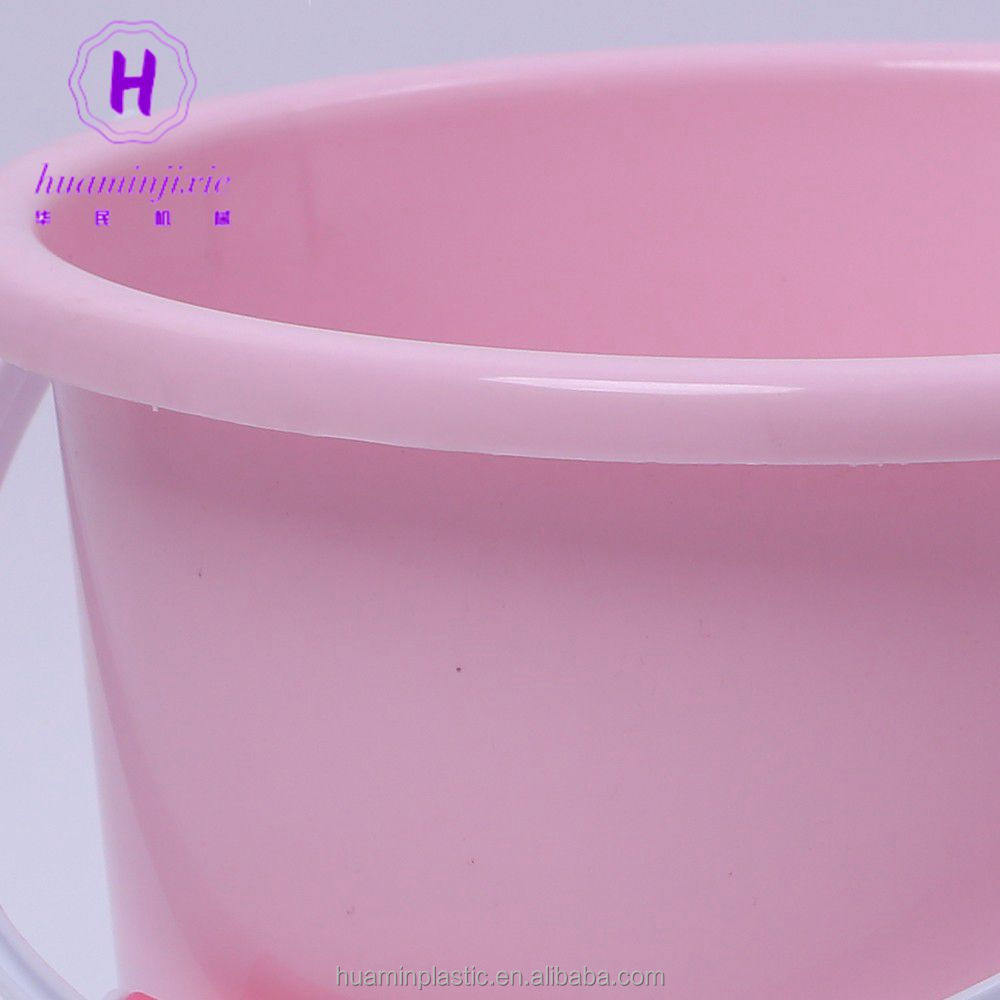 Colorful large indoor plastic multi bucket