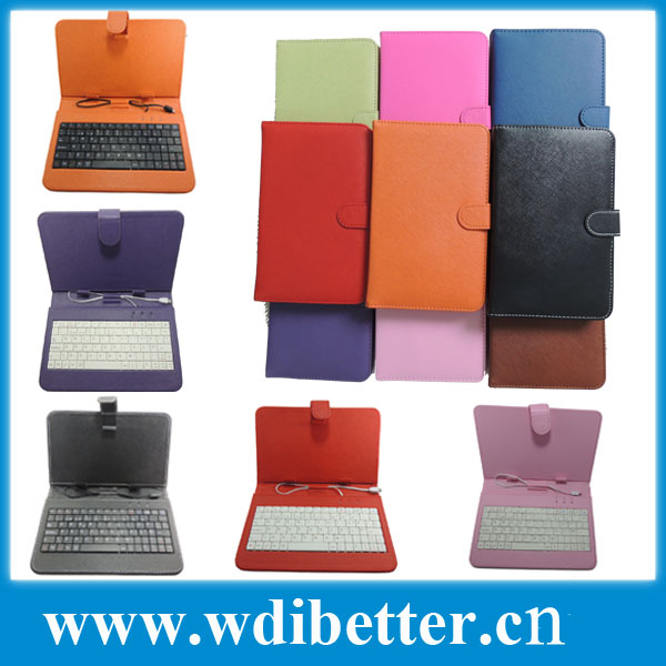 Fashion Universal USB Keyboard Leather Cover Case For 7inch 8inch 9inch 10inch Tablet PC
