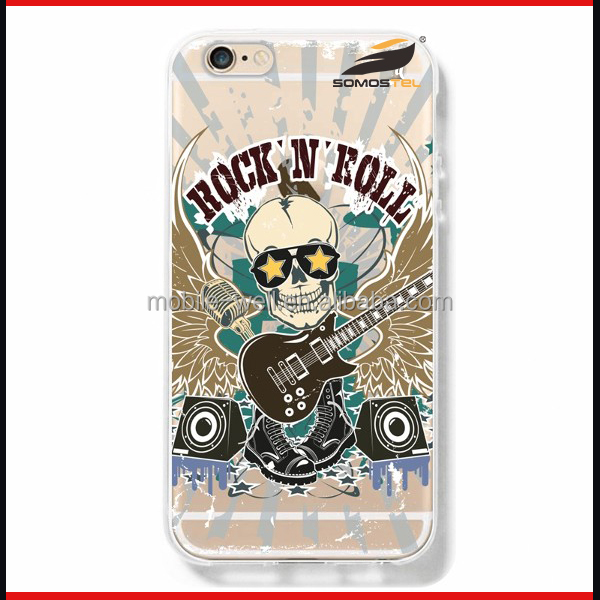 Mobile Phone Accessory Custom Print Skull Head Pattern Phone Cover Cases for iPhone 4 4s Case