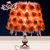 China wholesale artificial flower table lamp wedding decoration