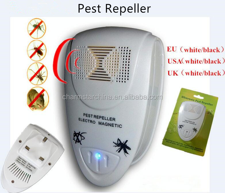 Multifunctional Indoor electro magnetic ultrasonic pest repeller for anti mosquito insect reject repellent with EU/US/UK plug