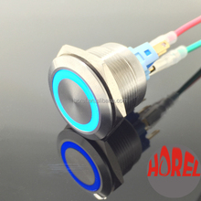 22mm ring illuminated momentary led push button switch