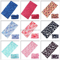 cheap Magic sport Seamless Tube Elastic UV plastic Resistance polyster stretchy flower bandana hair yoga Headband