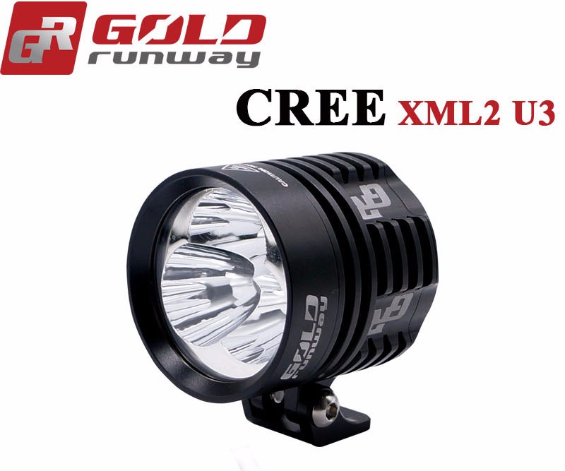 New Fog Lamp Spot Light Motorcycle LED Driving Headlight with Lampshade Black