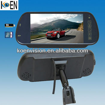 "7"" Monitor OEM Rearview Mirror Holder Car Rearview Wireless Mirror"