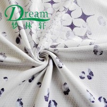 Hangzhou purple & white double jacquard knitted mattress ticking fabric