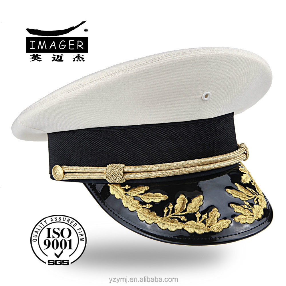 Customized Navy Warrant Officer Hat with Gold Embroidery