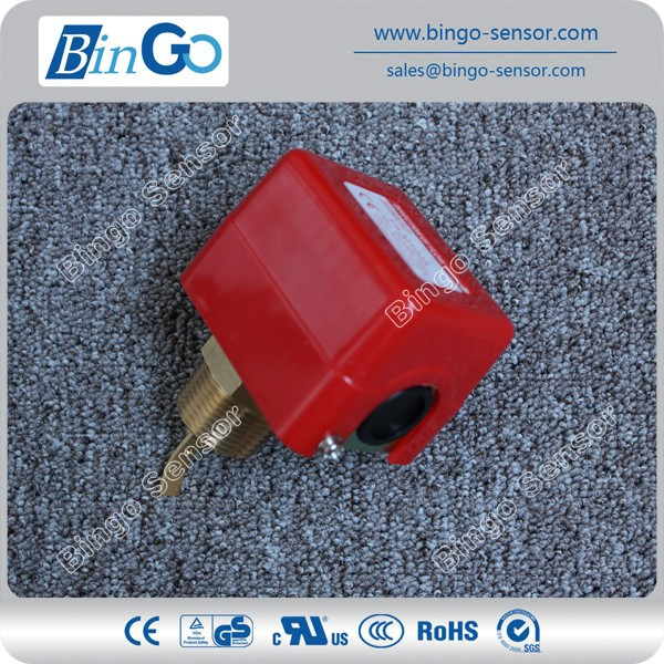 Red paddle flow switch brass water for