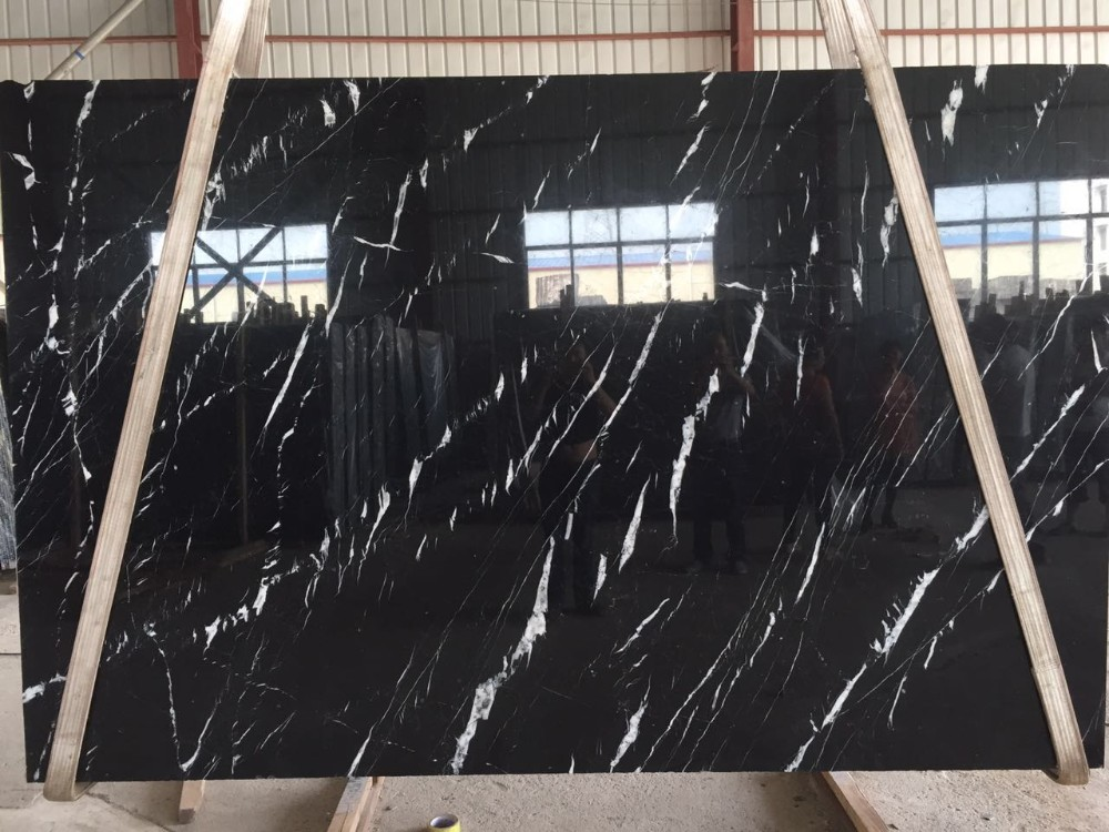 Chinese Nero Black Marquina Marble Tile