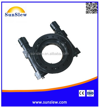 SDL14 14 inch dual axis slewing drive slewing bearing worm gear drive motor