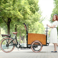 3 wheel bakfiet electric cheapest cargo bike three wheel passenger tricycles