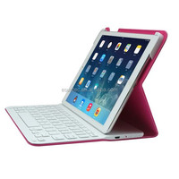 Wireless bluetooth 3.0 keyboard for ipad air and air2 keyboard and PU case G1403