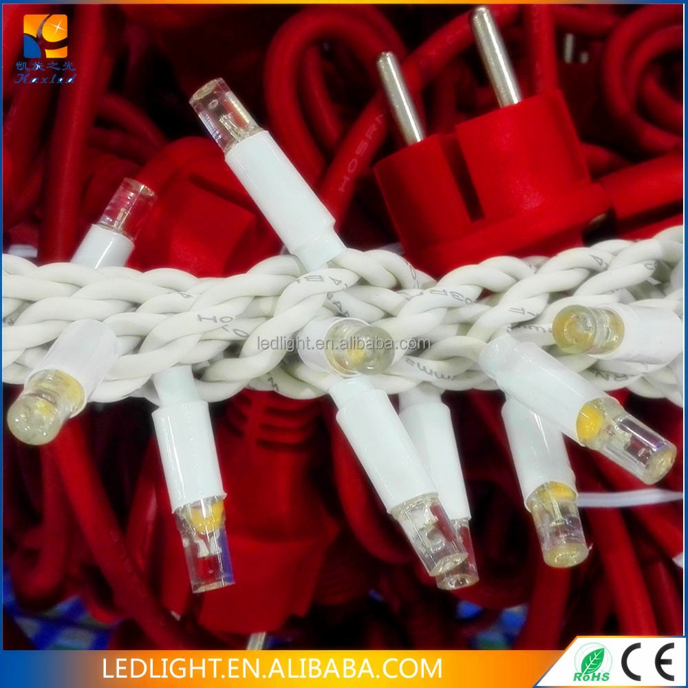 rubber cable Connectable extendable copper wire LED garland string fairy light LED party play light