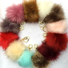 Popular artificial eco friendly super cute faux fur pom pom ball