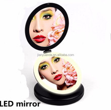 Illuminated Feature and elegant vanity dressing table mirror with lights / target dressing table mirror portable for travelling