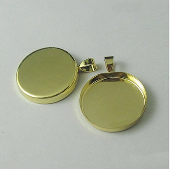 Cheap Price Wholesale Cabochon Pendant /Copper Plated Jewelry Base Pendants For Engraving And Laser