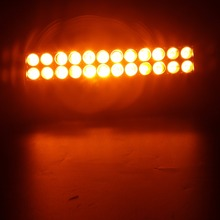 Double stack white amber color 72W led light bar with wireless remote control