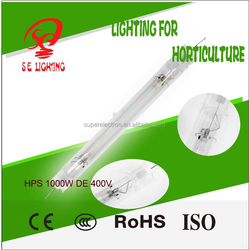 Hydroponics Indoor Grow 600W High Pressure Sodium Lamp 600W Double Ended
