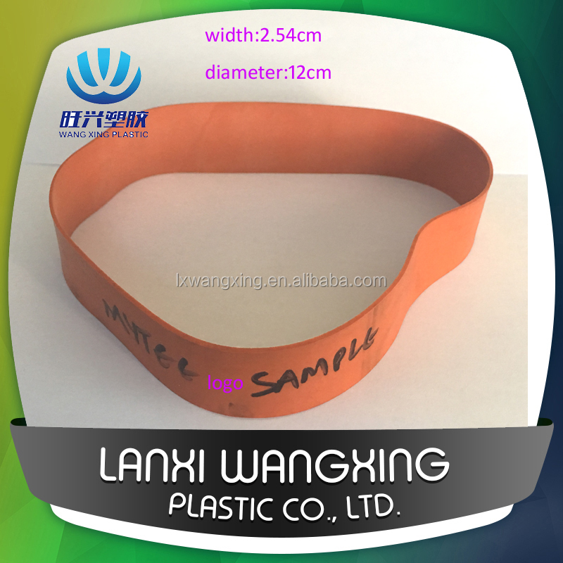 "Custom printed logo 1inch broad rubber bands for package ,1"" wide larger elasric rubber band"