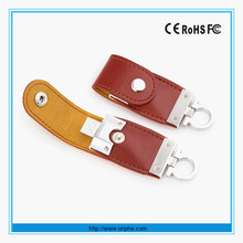 2015 New Personal Model keychain usb flash drive leather