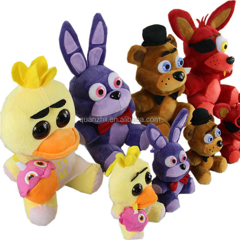 2017 Hot 25cm Five Nights at Freddy's Plush Toy, Freddy Fazbe Bonnie Chica Foxy The Mangle Plush Toy, FNAF Plush Doll