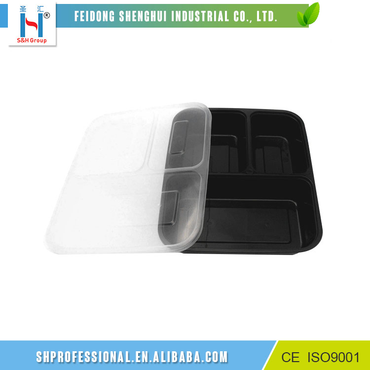 Best Selling 3 Compartment Reusable Food Storage Container /Plastic Container