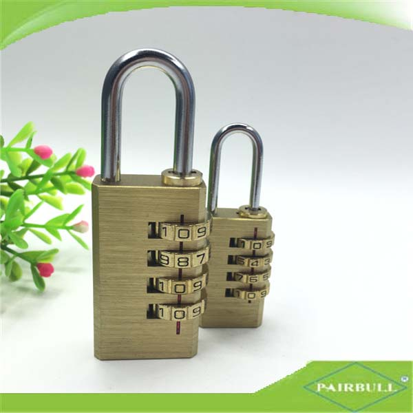 polished brass material padlock mechanism free keys code lock for door
