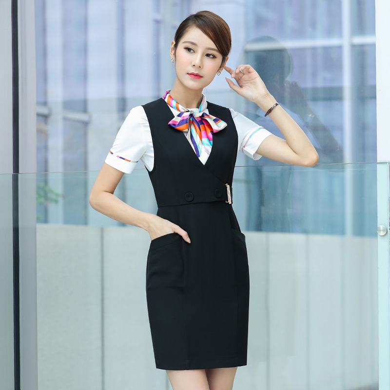 elegant air attendant uniform design shirts and dresses with cheap price