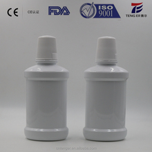 300ml PET mouth rinse customized pet color plastic mouthwash bottle with screw cap