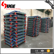 metal lockable warehouse wire welded mesh roll storage cages