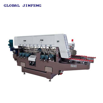 JFD-1016 glass straight line double edging polishing buffing machine for sale