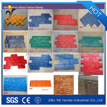Flexible rubber concrete stamp mats mould for pavement